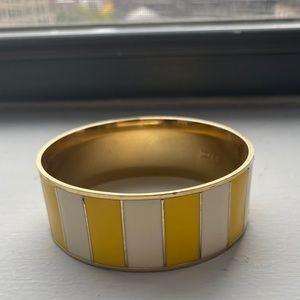J. Crew Yellow Stripe Bracelet